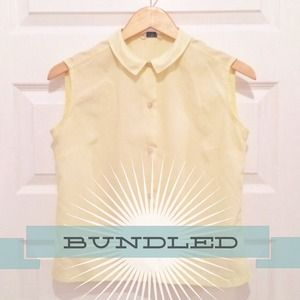 :: RESERVED ::  Pale Yellow Peter Pan Blouse