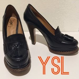 YSL Penny Loafer Pumps