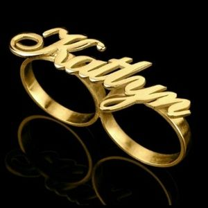 Jewelry - 2 Finger Nameplate Ring