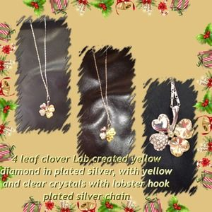 Jewelry - 4 leaf clover pendant with chain 💥sold💥