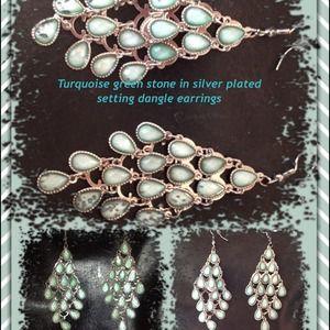 Jewelry - Turquoise dangle earrings 💥sold💥