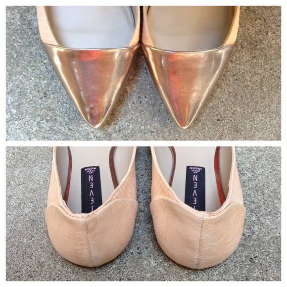 Steve Madden Shoes - Blush Metallic Cap Toe Flats 2