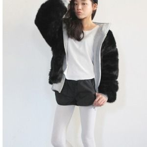 Accessories - Hooded fur jacket