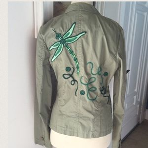 IN THE WEAR Army Green Unlined Cotton Jacket 4 NWT