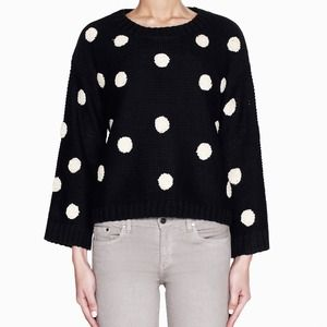 TEMPORARILY UNAVAILABLE - Navy Polka Dot Sweater