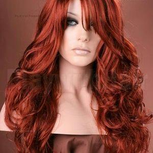 Beautiful Bally Full Wig Red