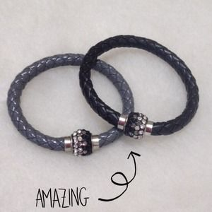 Jewelry - New - Two Crystal Bead Rope Buckle Bracelets!