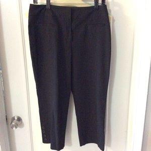 Larry Levine Pants - Black Capri work pants