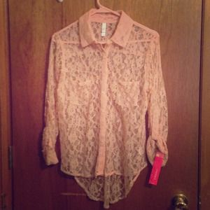 Lace button down shirt from xhilaration
