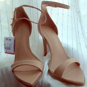 Zara Shoes - Zara NWT pointy nude stilettos