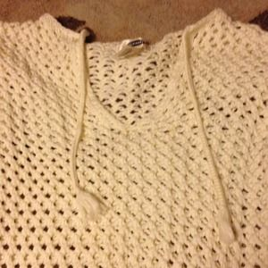 Old Navy Tops - Old Navy Crocheted Long Sleeve Pullover