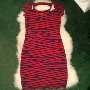 Charlotte Russe Dresses & Skirts - Red & Blue Dress