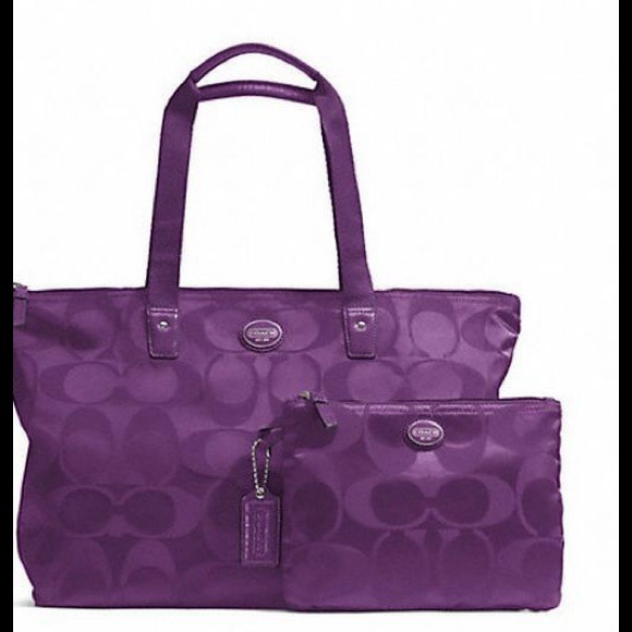 Coach Weekender Tote Bag with Cosmetic Bag