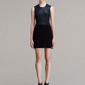 Helmut lang Leather and knit dress