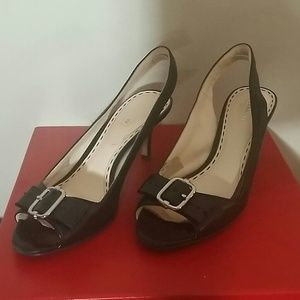 COACH Peep toe sling back shoes