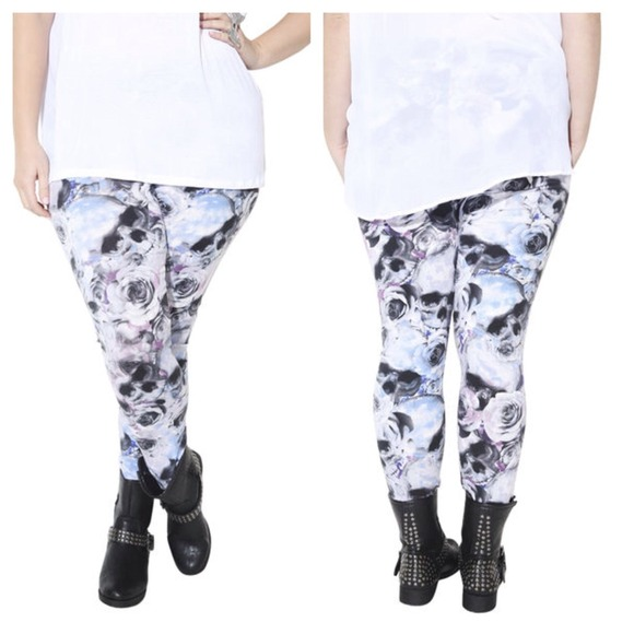 Plus Size Skull Leggings - Trendy Clothes