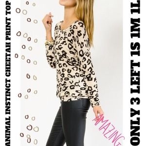 ⚡FLASH SALE⚡CHEETAH PRINT TOP ONLY 1 LEFT in S!✨