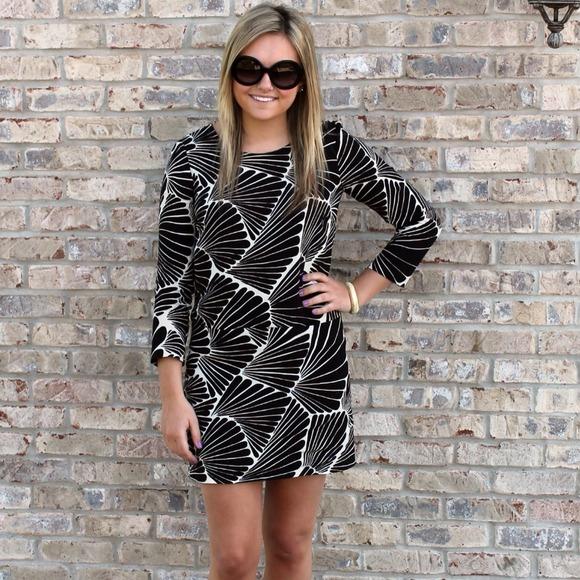 J. Crew Dresses & Skirts - J.Crew Black & White Tropical Leaf Print Dress 2