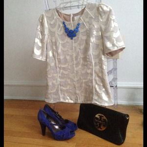 Royal Blue Jeweled Bling  JCrew Inspired Necklace