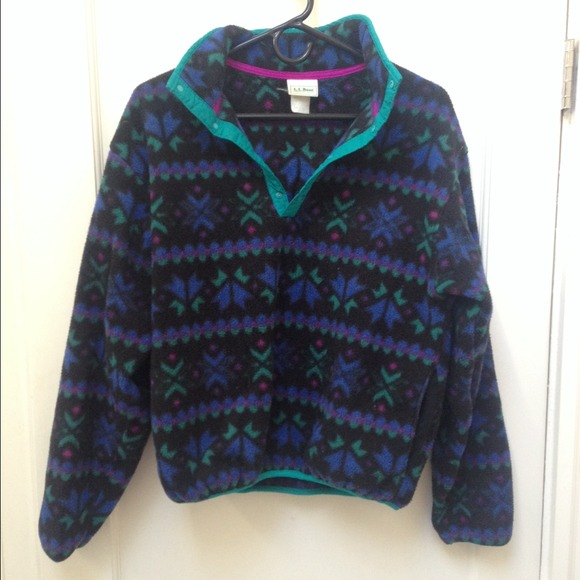 LL Bean - LL Bean patterned retro fleece. from Amelie's closet on ...