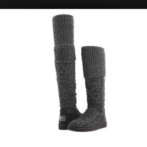 grey and black uggs