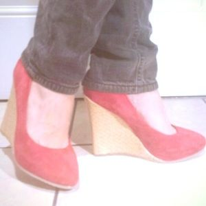 Gorgeous asos red platform shoes