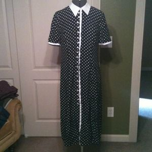 Vintage Black/White Polka Dot Dress