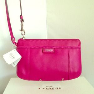 Coach Clutches & Wallets - AUTHENTIC Coach Leather Wristlet