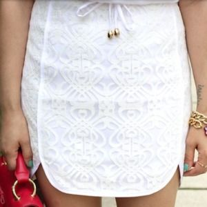 sugar lips Dresses & Skirts - REDUCED White Sporty Lace Skirt