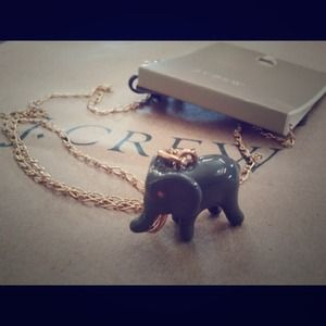 J crew elephant necklace