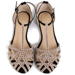 Zara inspired jewel netted flats