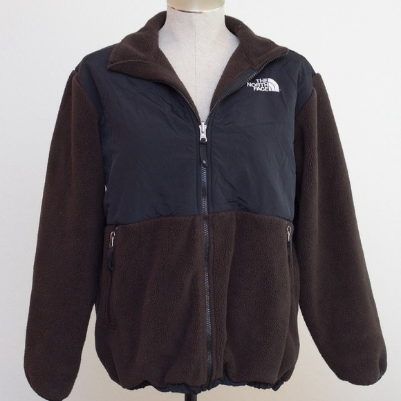 North Face - North Face brown & black fleece zip up jacket from ...