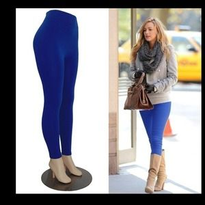 NEW Celeb Style Royal Blue Fleece Lined Leggings🎀