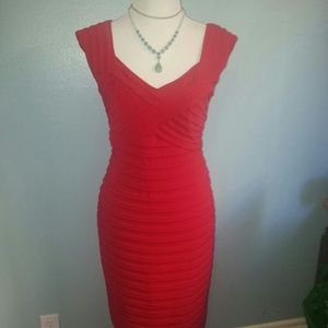 Candy Apple form fitting Red Holiday Dress