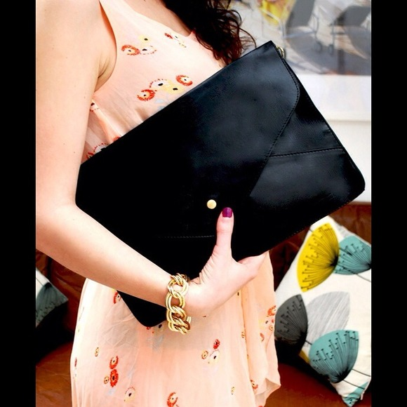 Handbags - Black Envelope Clutch 2