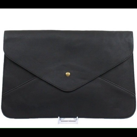 Handbags - Black Envelope Clutch 3