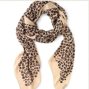 Stella & Dot leopard scarf