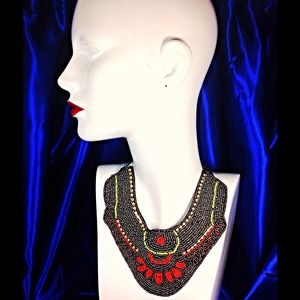 Gorgeous Beaded Bib/Collar Necklace