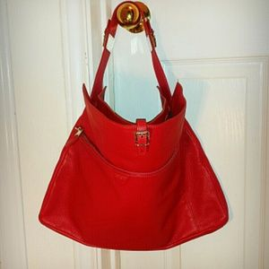 MARC JACOBS RED LEATHER BAG