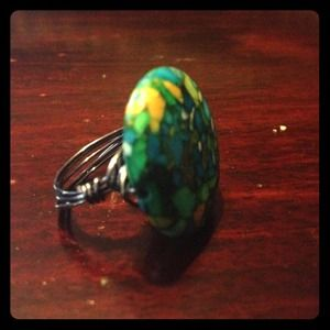 Jewelry - Multi Color Turquoise Wire Wrap Ring