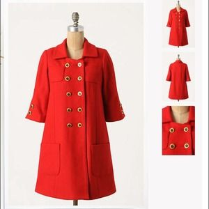 Anthro Ruby Path Coat