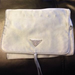 prada shoulder purse - 67% off Prada Accessories - Pravda Satin Travel Jewelry Roll Pouch ...