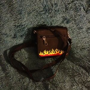 Handbags - Flames wallet with crossbody style strap