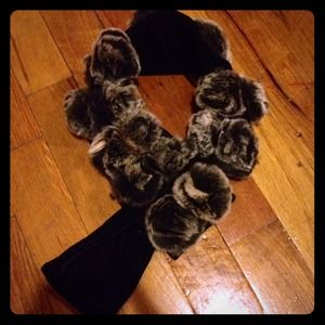 none Accessories - Rabbit Fur Scarf