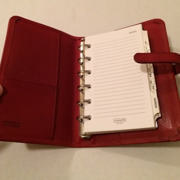 Coach Accessories - Coach �� authentic Red Leather planner