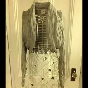Armani exchange light gray knit bolero