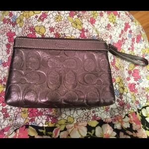 Authentic Coach small wristlet