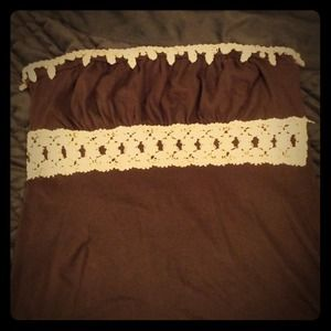 Embroidered tube top