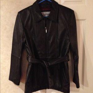 Jackets & Blazers - GENUINE BLACK LEATHER JACKET