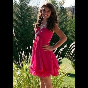 hot pink homecoming/cocktail dress